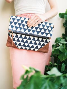 Indigo Clutch -- $44   From Purse and Clutch, fair traded and ethically produced handbags