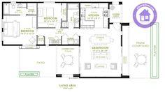 planos de casas modernas de una planta - Buscar con Google