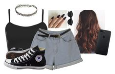 """""""Untitled #6359"""" by hannahmcpherson12 ❤ liked on Polyvore featuring Topshop and Converse"""