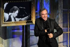 Rock and Roll Hall of Fame  Neil Diamond accepts his award for being inducted into the Rock and Roll Hall of Fame during the induction ceremony at the Waldorf-Astoria in New York on March 14th, 2011.