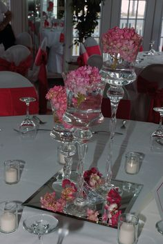 DIY wedding centerpieces... But with different colors
