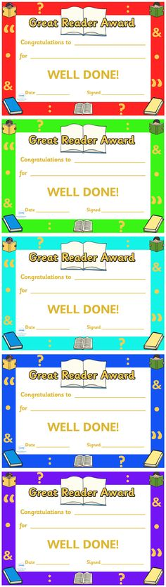 Twinkl Resources >> Great Reader Award Certificate  >> Thousands of printable primary teaching resources for EYFS, KS1, KS2 and beyond! great reader, award, reward, certificate, editable