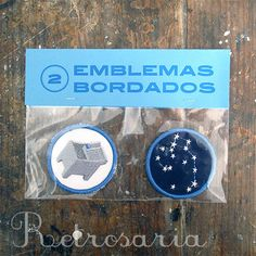 2 emblemas bordados | Serrote patches – Retrosaria