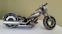 Hey, I found this really awesome Etsy listing at https://www.etsy.com/listing/217287224/custom-made-scrap-metal-art-harley