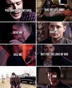 Dean Winchester protective of Sam Winchester