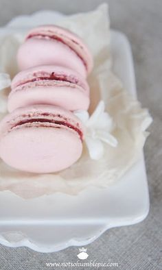 Ladurée's raspberry macaron  I love Laduree's macorons.  I will bake them someday...