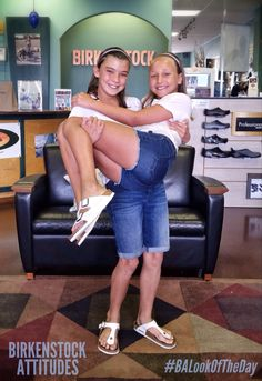 Our customer Mia loved her Birkenstock sandals so much that she convinced her best friend Mila to get her own pair! #BirkenstockAttitudes