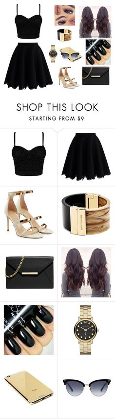 """Unbenannt #483"" by aysuyucel ❤ liked on Polyvore featuring Chicwish, Tamara Mellon, Michael Kors, MICHAEL Michael Kors, Marc by Marc Jacobs, Goldgenie and Gucci"