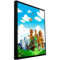 Luis Peres School Day Floater-Framed Gallery-Wrapped Canvas, Size: 18 x 24, Black