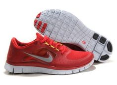 buy online a8b2d 2a49d Herr Dam Nike Free Run 3 Röd Vit Skor Free Running Shoes, Mens