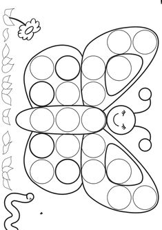 dessin papillon Fisher Tips Spring Activities, Toddler Activities, Preschool Activities, Camping Activities, Preschool Worksheets, Preschool Crafts, Art For Kids, Crafts For Kids, Do A Dot