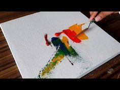 Abstract Painting / Easy and Colorful with Acrylics and Palette knife / Project 365 days / Day #043 - YouTube