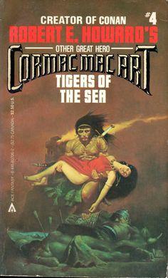 Cormac Mac Art #4: Tigers of the Sea - Robert E. Howard, cover by Sanjulian