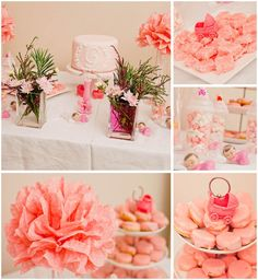 All pink baby shower. #KADphotography