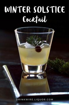 With a whiff of pine needles, dark earth, burning logs, and cool herbaciousness, this #cocktail captures all that is winter! Rye #whiskey and #mezcal come together to deliver the original #Winter Solstice that will become your favorite #holiday sipper!