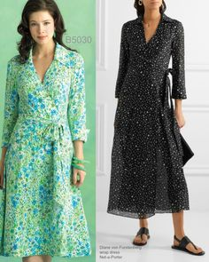 Sew the Look: Butterick B5030 wrap dress sewing pattern.