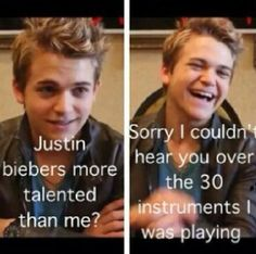 Hahaha! I like Justin Bieber but Hunter Hayes hasn't done anything stupid or nasty in his career yet...