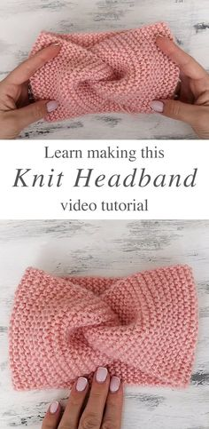 Knit Headband - The knit headband is the perfect accessory to keep you warm and in style! Keep reading for tips on how to style your headband and for sizing guidelines. knit hat Knit Headband Anyone Can Make Knitting Paterns, Easy Knitting, Knit Patterns, Knitting Projects, Crochet Stitches, Crochet Projects, Knitting Needles, Knitted Headband Free Pattern, Headband Crochet