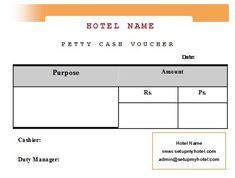 bill format of hotels sample format of hotel petty cash voucher
