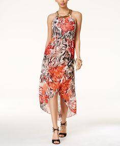 Thalia Sodi Printed High-Low Maxi Dress, Only at Macy's