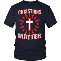 "CHRISTIANS MATTER!Be a PROUD CHRISTIAN, get yours today & wear PROUDLY! ""Free Shipping"" this week, SHARE & RT"