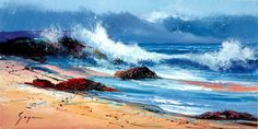 Rough Sea's on the Rocks VI by Fernando Goyan. Available from Artworx Gallery. www.artworx.co.uk