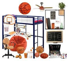 """""""Basketball"""" by didesi ❤ liked on Polyvore featuring interior, interiors, interior design, home, home decor, interior decorating, Umbra, Shany, Spalding and Trend Lab"""