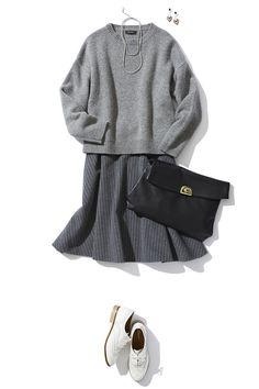 ピンストライプスカートのIN or OUTのバランス学 ― B