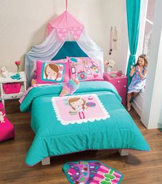 Twin and Full size Candy Girl Comforter Set #VNG