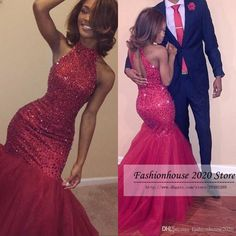 Sparkly Mermaid African Prom Dresses Red High Neck Beading Long Corset Formal Evening Dress Sexy Backless Pageant Gowns Custom Made Prom Dresses African Prom Dresses Mermaid Prom Dresses Online with 169.15/Piece on Fashionhouse2020's Store | DHgate.com