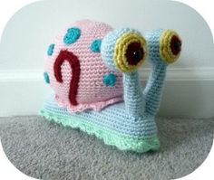 Gary the Snail amigurumi- amazing shop!  OMG