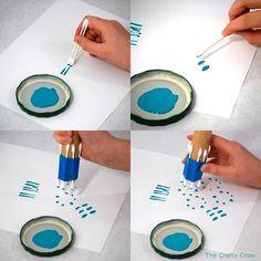 Pintar con bastoncillos de algodón