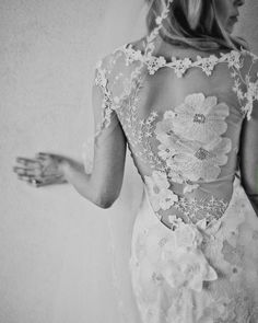 lace back dress by Claire Pettibone