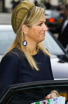 Queen Máxima, February 13, 2014 in Fabienne Delvigne | The Royal Hats Blog