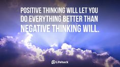 positive thinking will let you do everything better than negative thinking will Influence Quotes, Positive Quotes For Women, Think Happy Thoughts, Negative Thinking, Everything Is Awesome, Marketing Quotes, Staying Positive, Positive Mind, Successful People