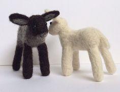 2 x lamb sheep needle felt kit by FeltHoppy on Etsy