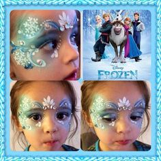 Add fun to the kids Halloween party - Decoration 4 Disney Frozen Party, Frozen Themed Birthday Party, Elsa Birthday Party, 4th Birthday Parties, 3rd Birthday, Frozen Face Paint, Christmas Face Painting, Fete Halloween, Halloween Face