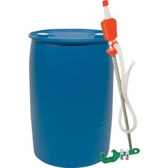 55 gallons of water, stores up to 5 years with the appropriate purifiers and preservatives!