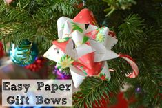 Easy Wrapping Paper Gift Bow