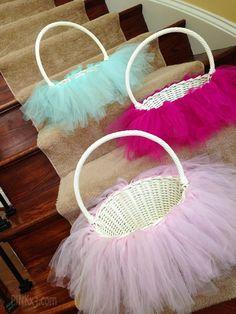 tutu easter basket, DIY Easter basket, Rustic Easter craft ideas, Easter table decorations, 2014 Easter Basket Crafts for Kids