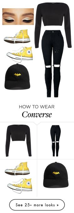 """""I am Batman"""" by totallyelizabeth on Polyvore featuring Forever 21, River Island, Converse, batman, rememberthiselizabethgc and lovedsetselizabethgc"