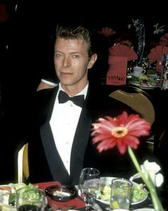 David Bowie looking very handsome in a Tux.