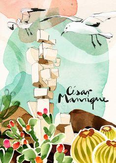 """www.villaspuertorubicon.com """"César Manrique"""" #ONTHEDRAW #LANZAROTE"""