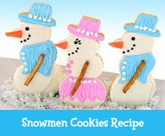 Your little baker can help decorate these delicious snowmen cookies!