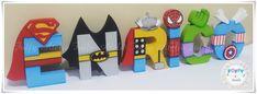 Letras Personalizadas - Herois | por FOFFY - Arte em MDF
