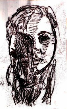monoprints based on distortion portraiture