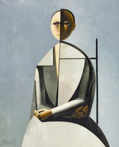 whitehotel:    Duilio Barnabè, Seated figure (mid 20th century)