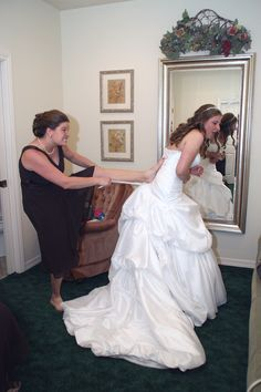 bride and maid of honor.. lol this will be me if I dont start running!!