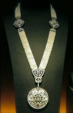 Seed pearl and diamond sautoir, by Cartier, circa 1909.