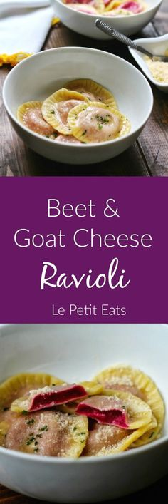 This Beet Goat Cheese Ravioli has an intense fuchsia hue, AND it tastes absolutely incredible!